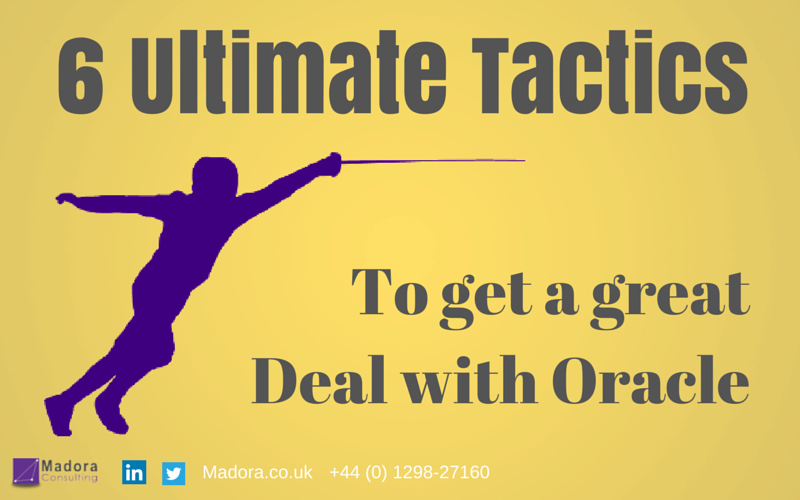 6 Tactics to a Great Deal with Oracle